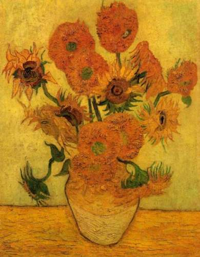 Still Life Vase with Fifteen Sunflowers [2]